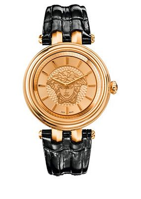 c2259793fa Versace - Khai watch with leather strap | Stuff to Buy | Versace ...