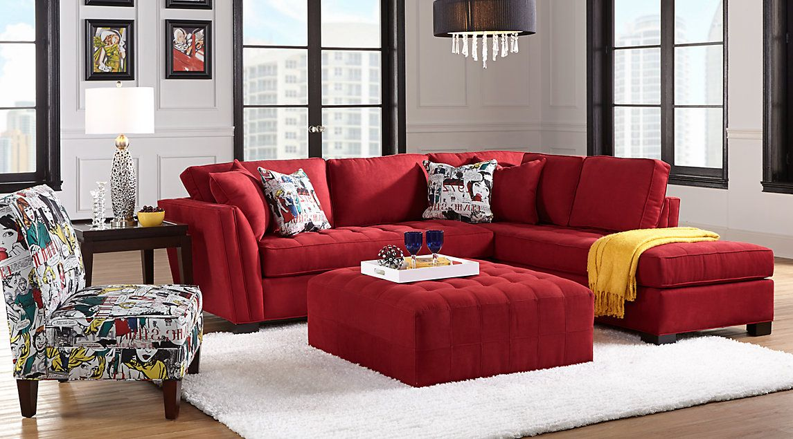 Red Living Room Sets Furniture Placement Ideas For Rectangular Fabric Microfiber 2 3 5 7 Pieces Gimme