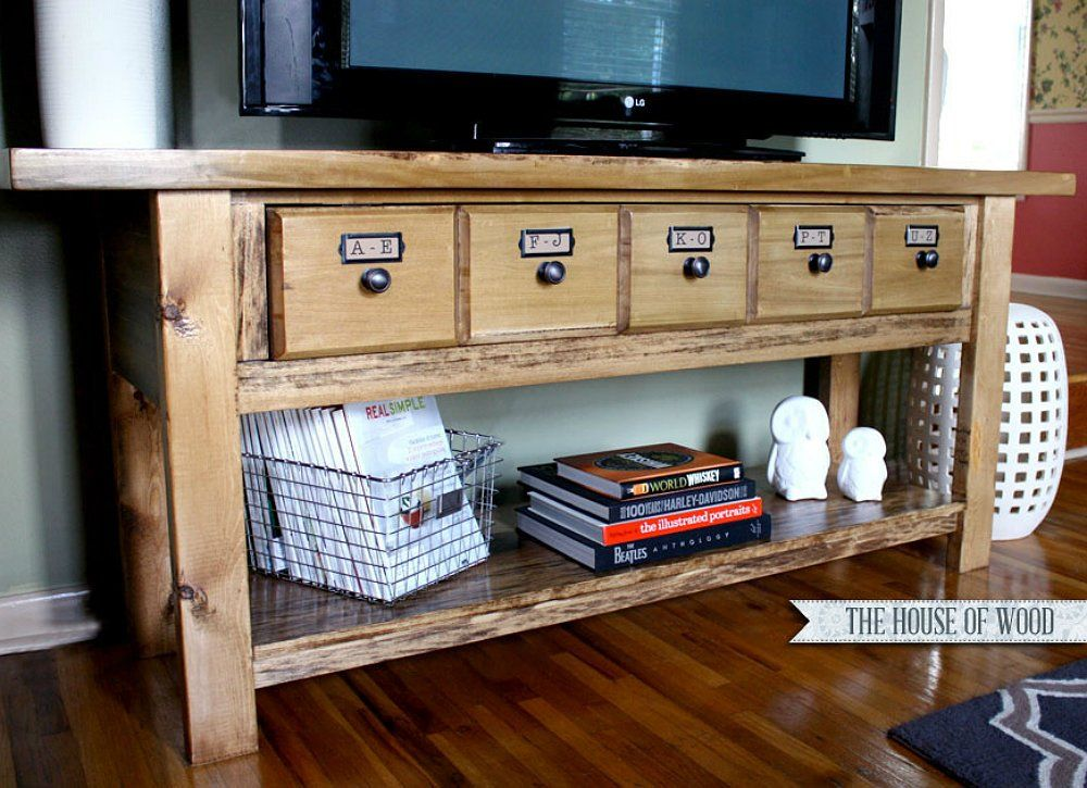 23 diy tv stand ideas for your weekend home project entertainment 23 diy tv stand ideas for your weekend home project solutioingenieria Choice Image