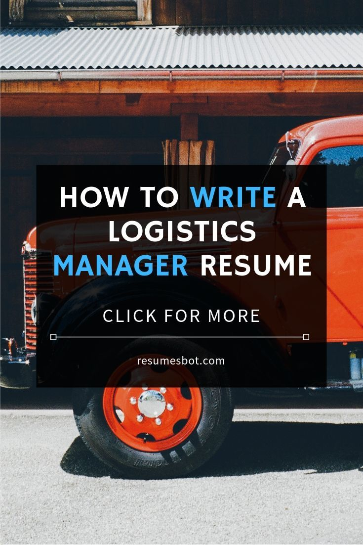 Logistics manager resume samples templates pdfword