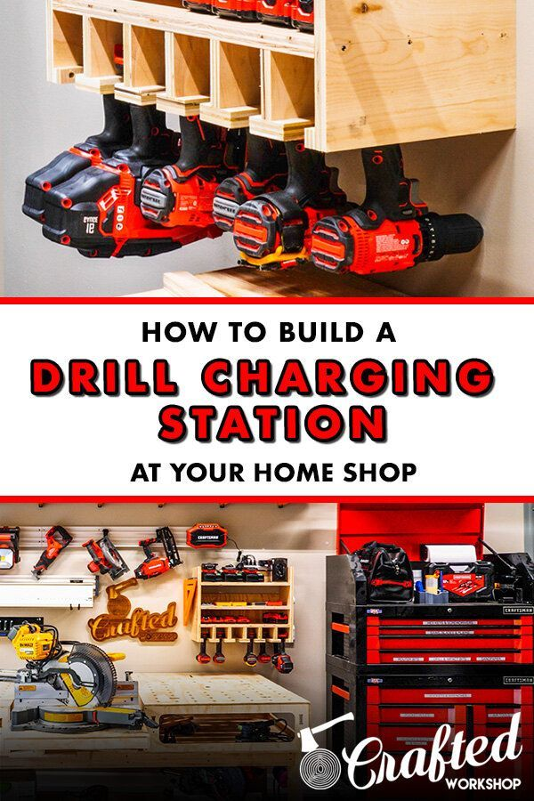 How To Build A DIY Drill Charging Station and 2×4 Workbench Base — Crafted Workshop