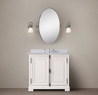 RH's French Casement Single Vanity:Panel doors and fine crown molding give our solid wood collection the gravitas of classic French cabinetry.