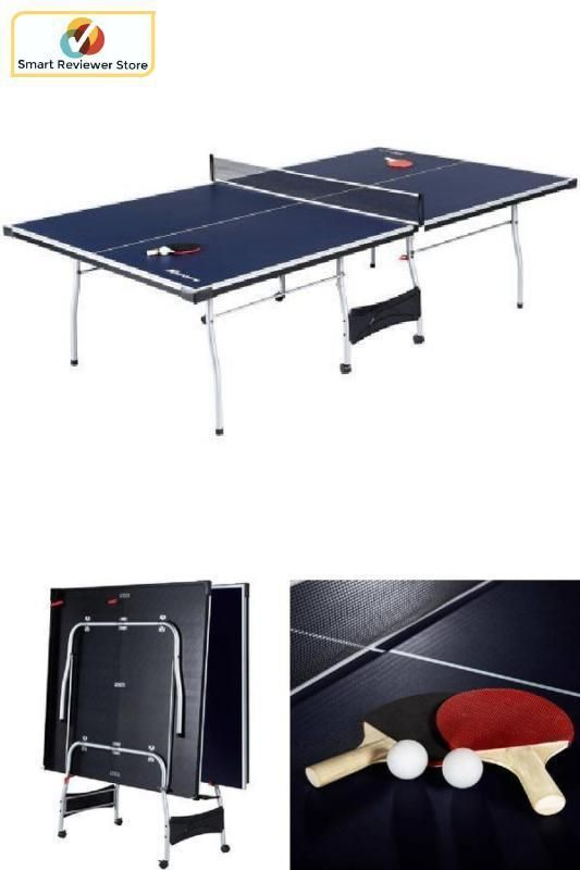 Ping Pong Table Tennis Blue Official Size Sports Indoor Game Room Fold Up  Table #MDSports