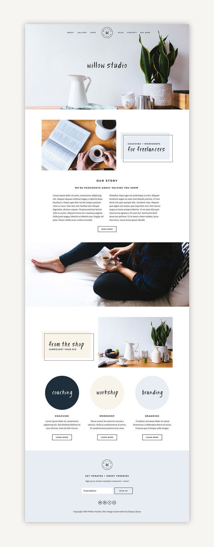 Willow Squarespace Kit — Station Seven: Squarespace Templates, WordPress Themes, and Free Reso