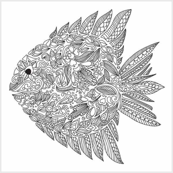 adult coloring pages fish 2 - Coloring Fish 2