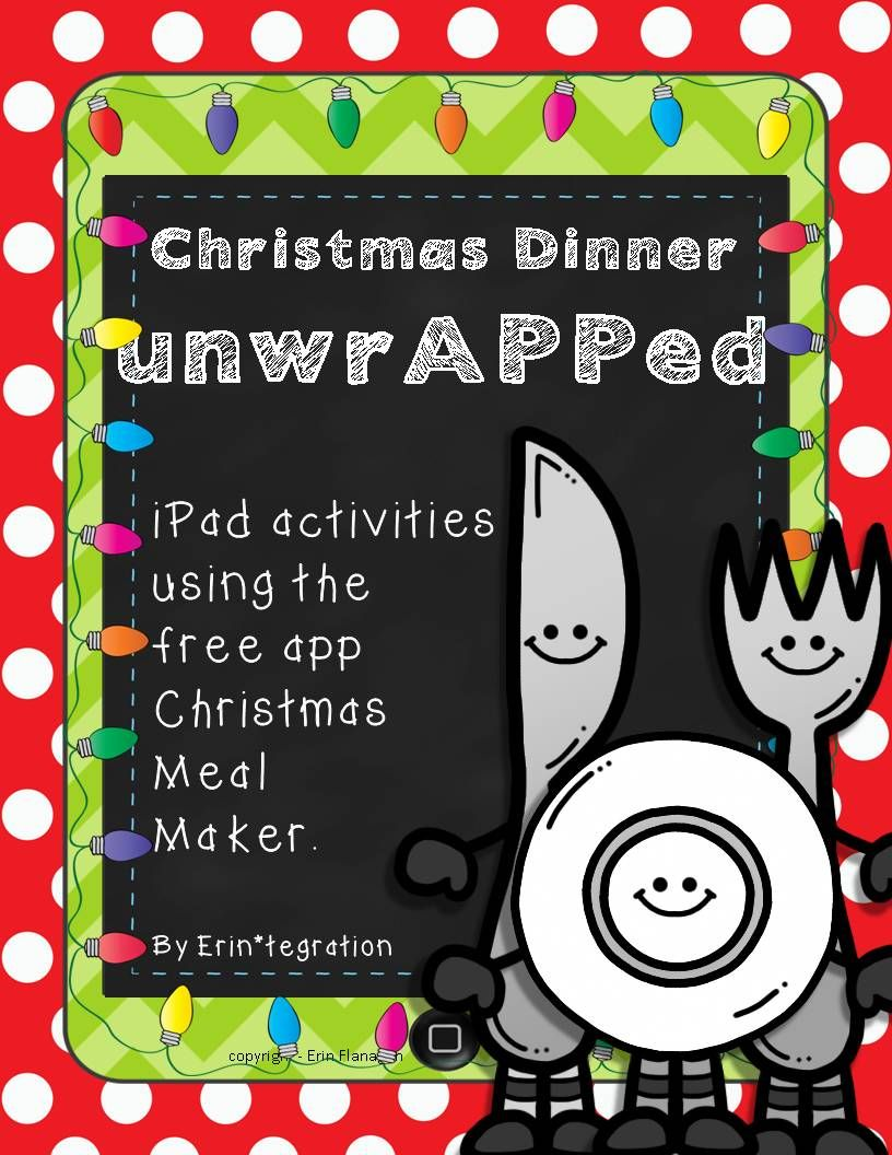 Christmas iPad Activity for grades 14 featuring CCSS