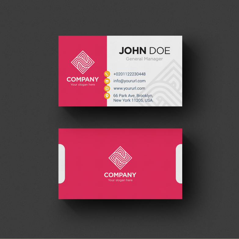 Best Business Cards Design Template White Business Card Yellow Business Card Free Business Cards