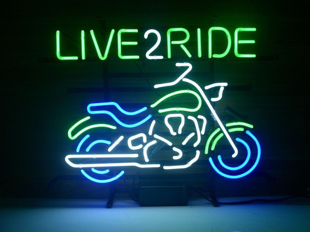 Motorcycle Live 2 Ride Neon Sign Neon Harley Davidson And Cars