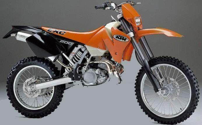 200 exc enduro 2001 2002 motos