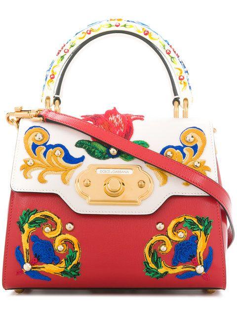 Dolce   Gabbana Welcome Majolica Embroidered Tote Bag  1baabc918b5c7