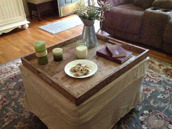 Ottoman Trays Home Decor Stunning Rustic Wooden Ottoman Tray Ottoman Tray Wooden Tray Rustic Review
