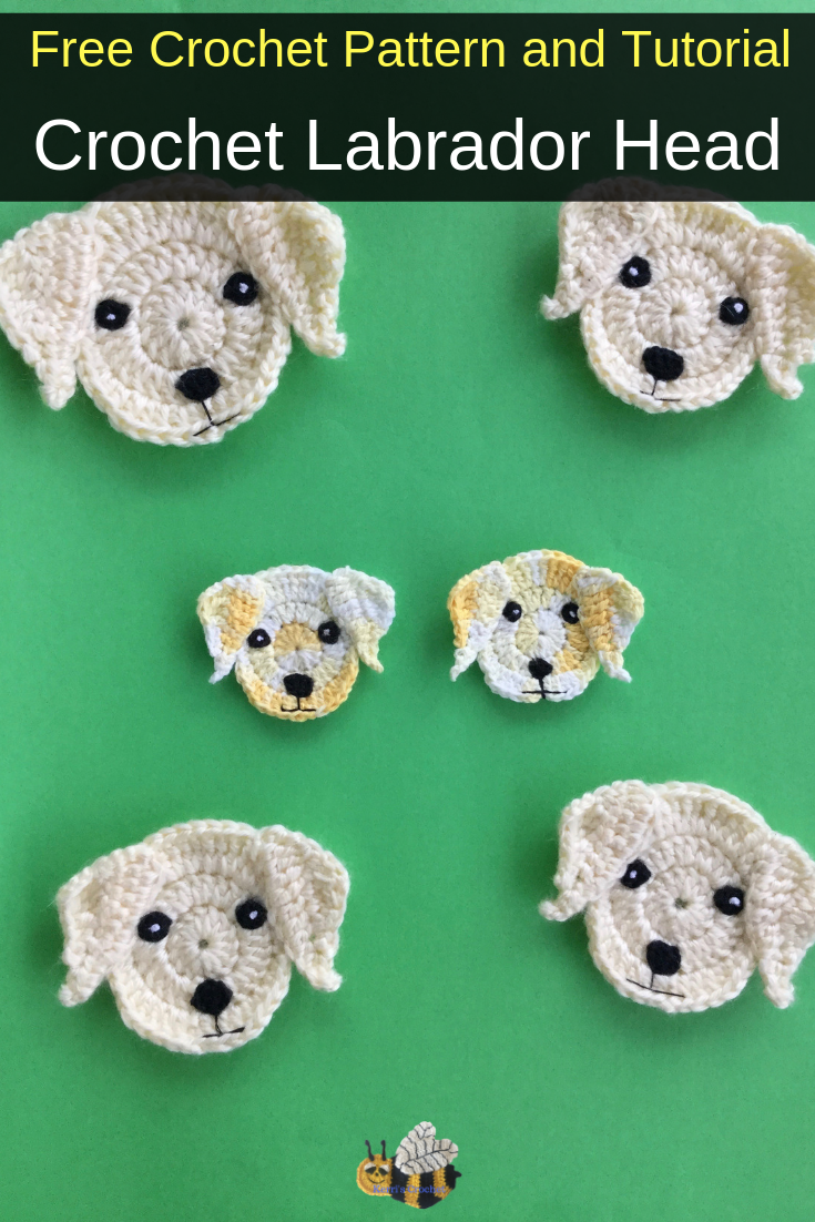 Free Crochet Pattern - Crochet Labrador Head