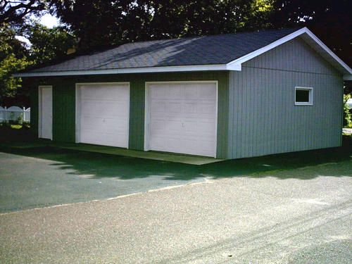 24 39 x 32 39 x 8 39 2 car garage at menards 6300 barn shed for Garage pole automobile marignane