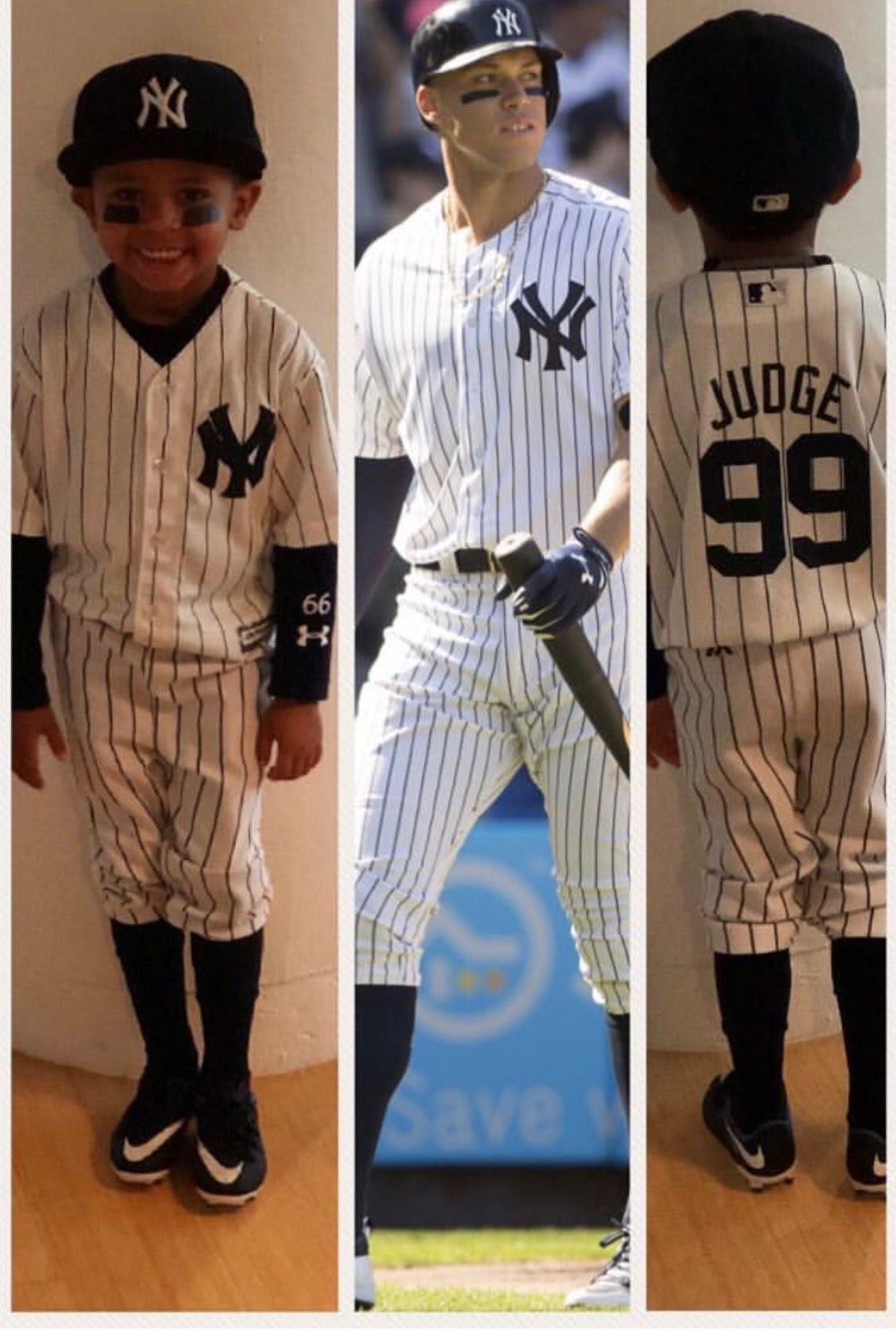 derek jeter's nephew jalen dressed up in his halloween costume as