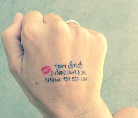 Bachelor Or Bachelorette Party Temporary Tattoos By Tealash