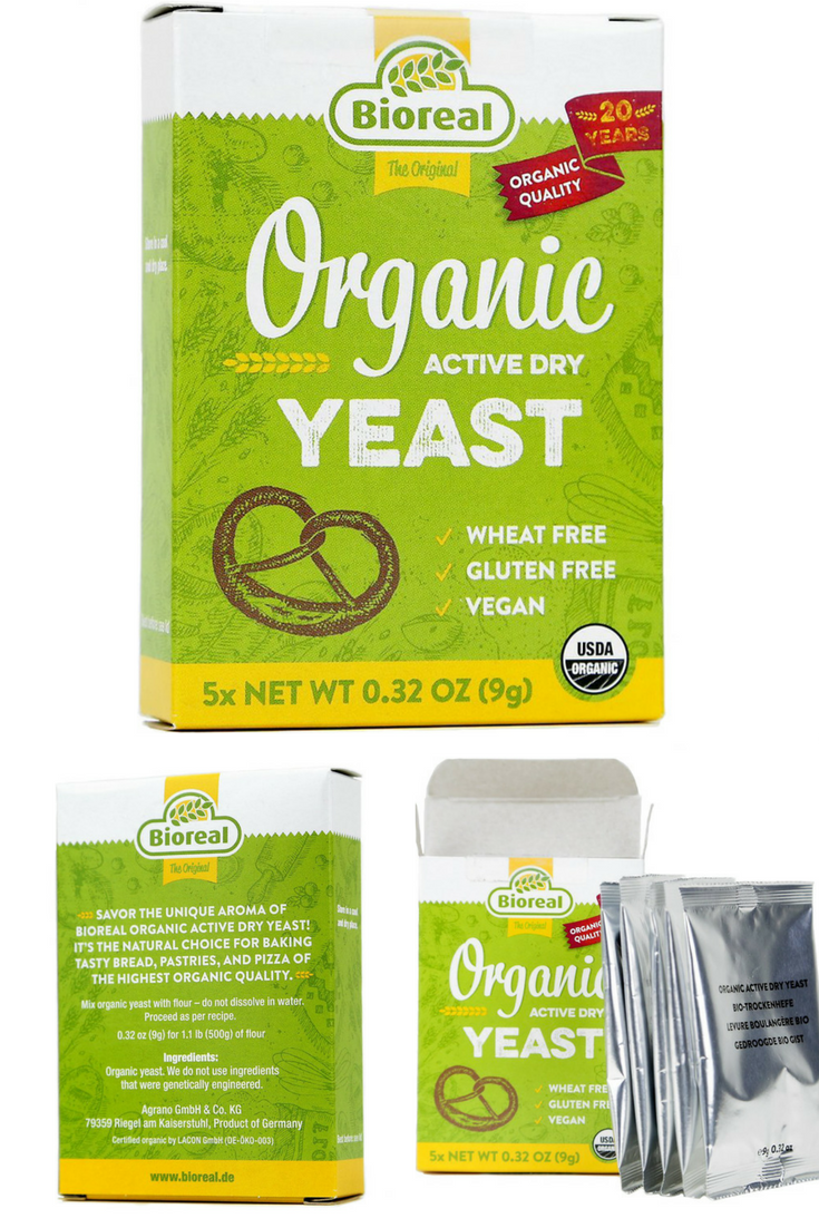 Bioreal Organic Active Dry Yeast Wheat Free Gluten Free Vegan Perfect For All Your Baking Needs
