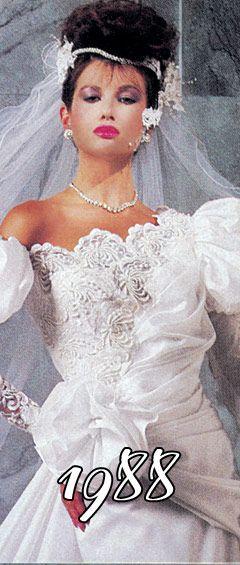 vestido de novia impression bridal de 1988 | los 80 | vestito da