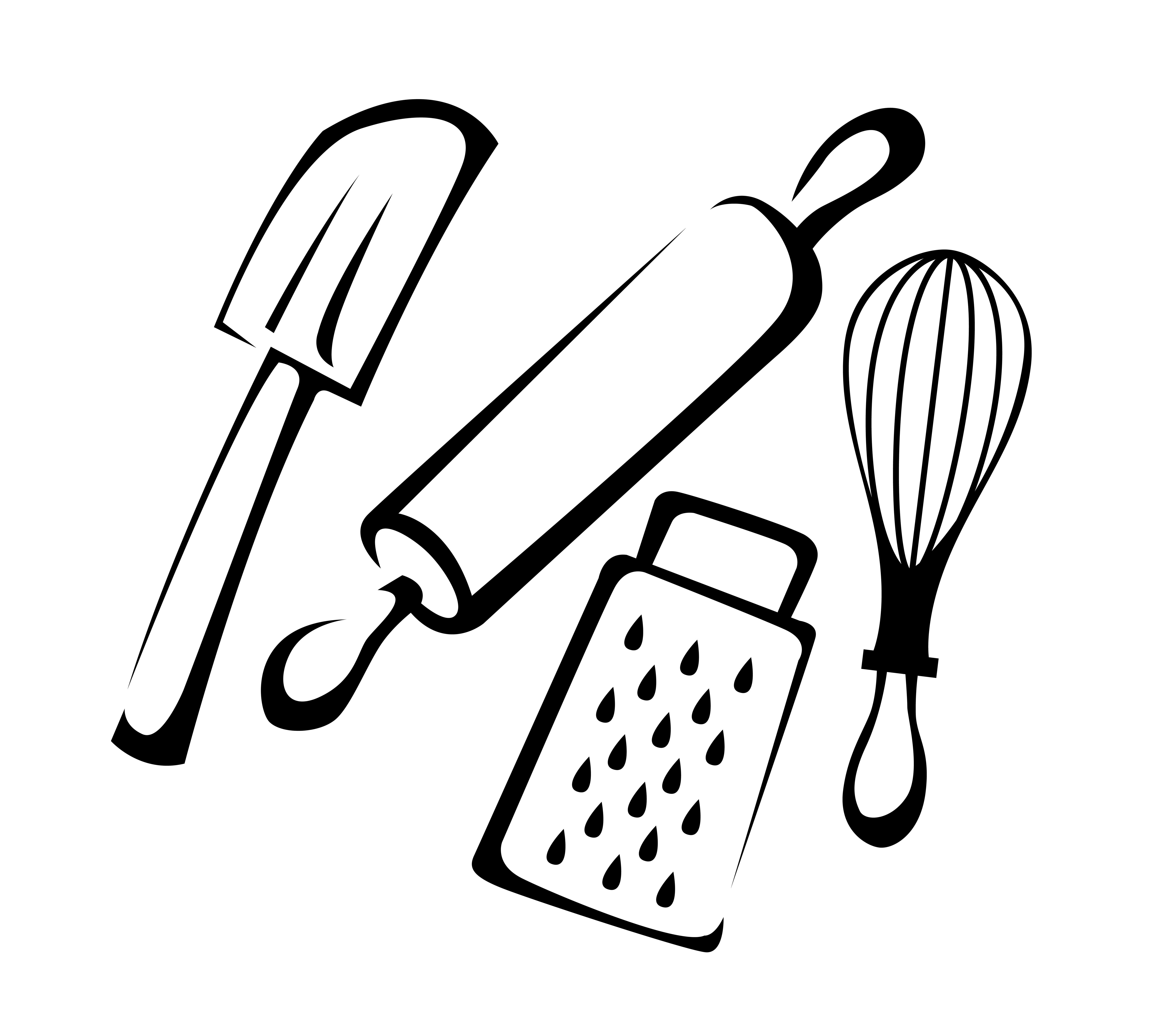 Kitchen utensils drawing for kids - Cartoon Rubber Spatula Cartoon Cooking 150x150