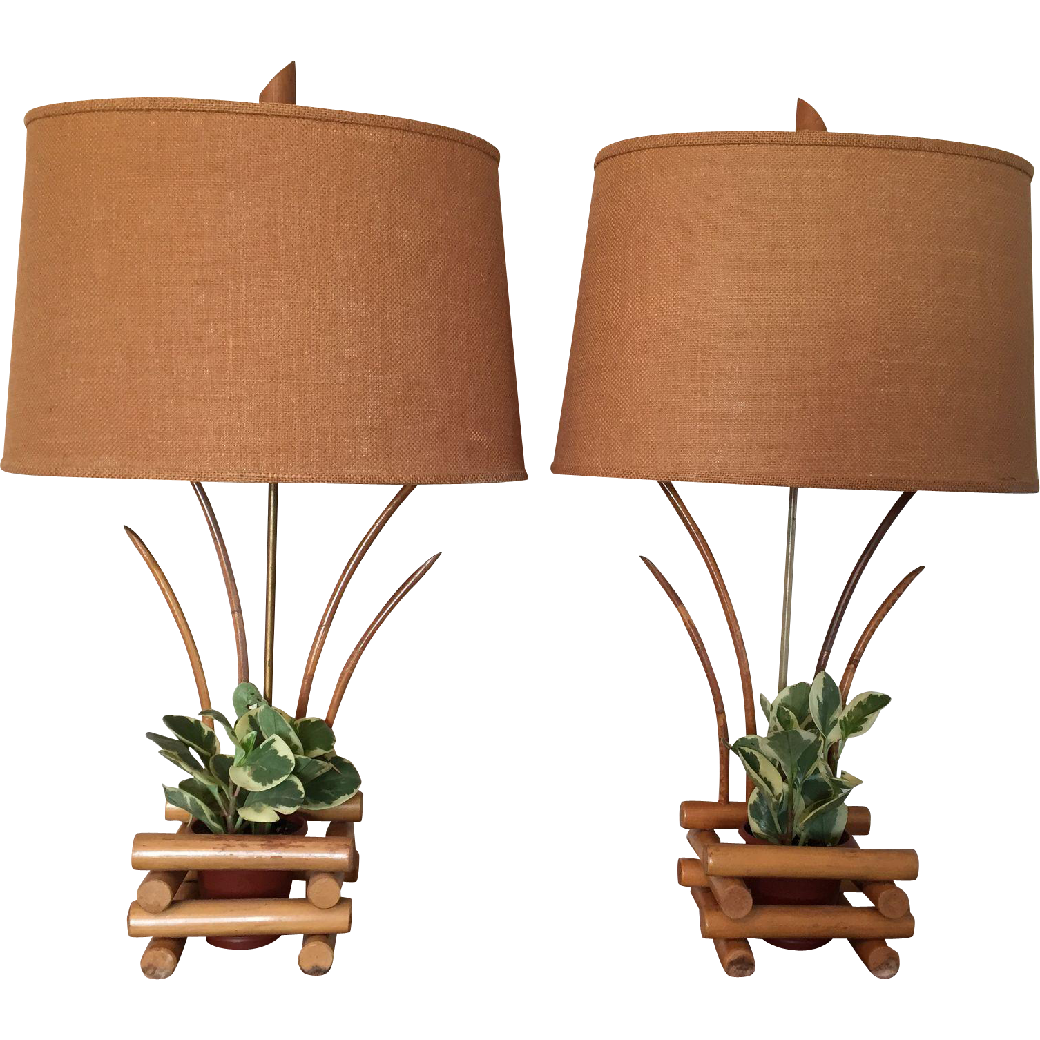 Mid century bamboo planter lamps islands planters and mid mid century bamboo planter lamps geotapseo Gallery