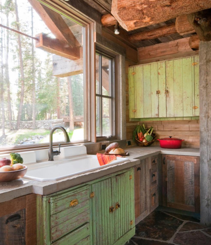 Pin von gail wiltshire auf Cabin Kitchen | Pinterest | Küche ...