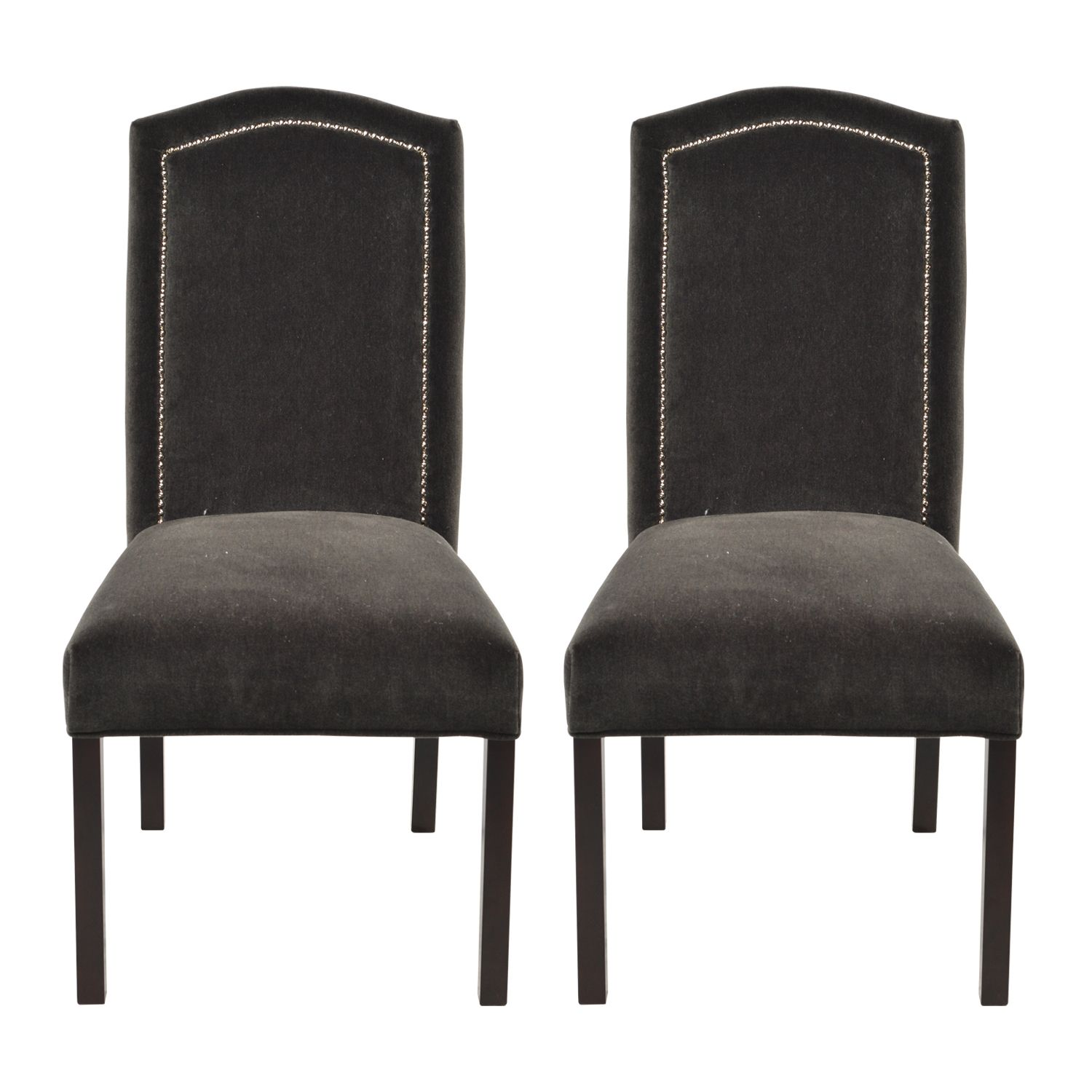 Add Definition And Chic Style To The Dining Room With These Upholstered Nail Backed