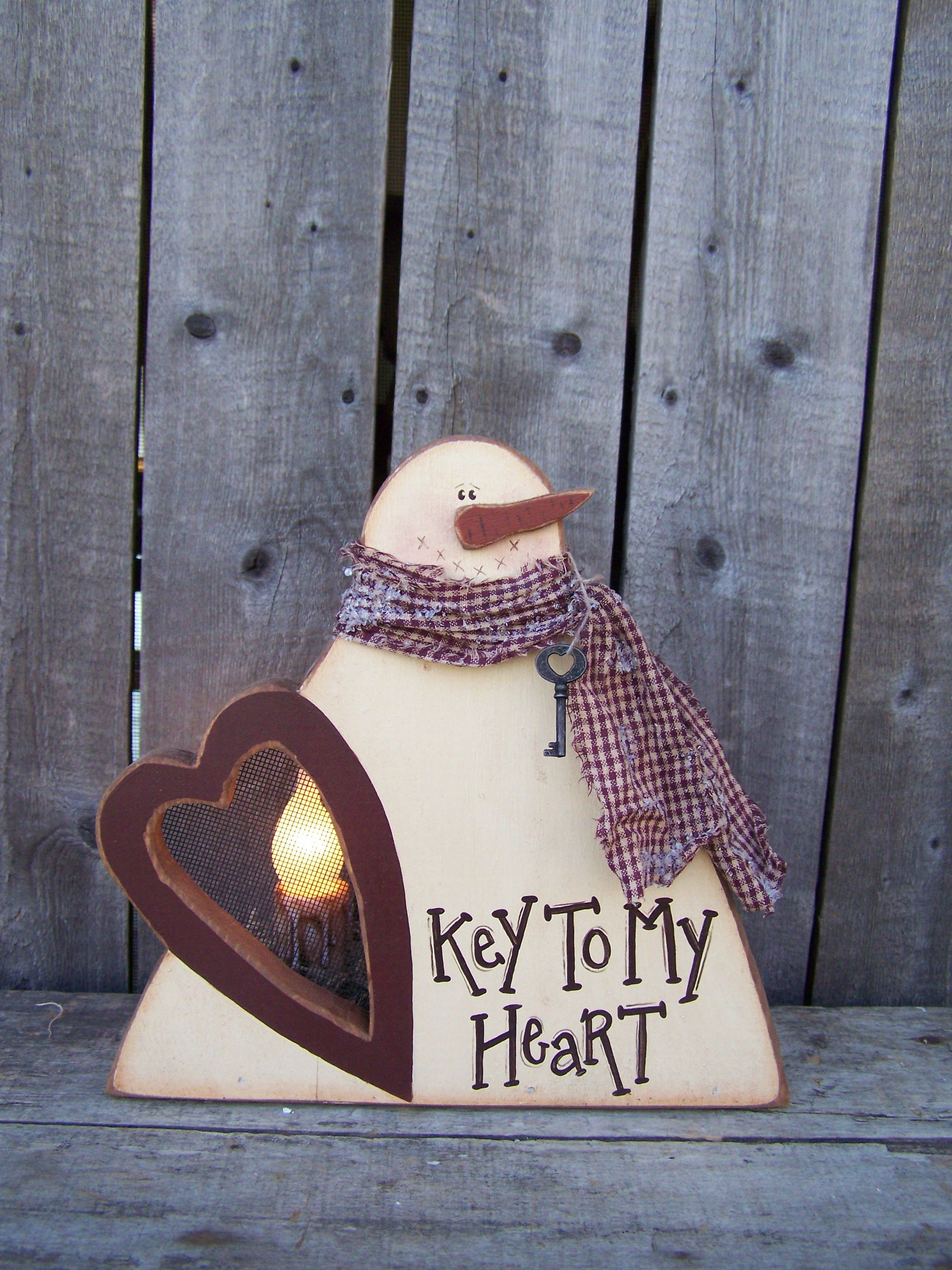 K186 Key To My Heart A Great Snowman For All Winter