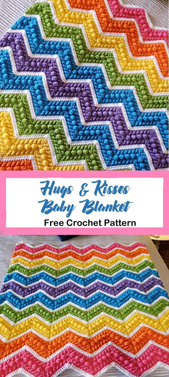 hugs kisses baby blanket free crochet pattern - ripple ...