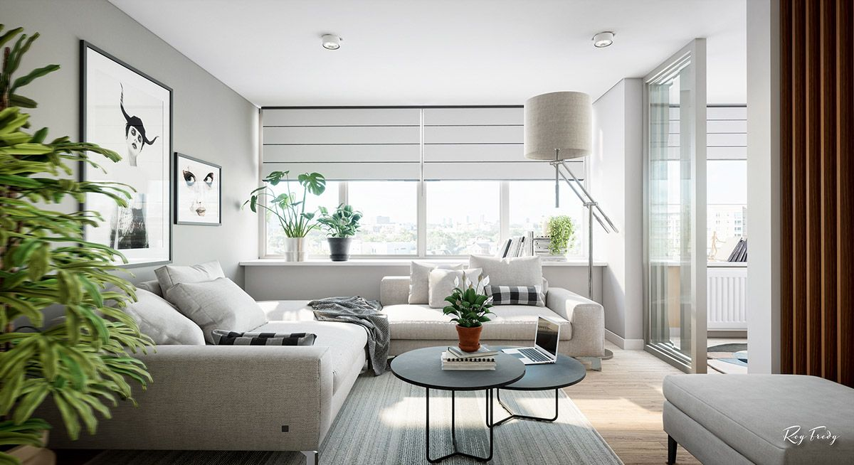 3 Beautiful Small Apartment Interiors Includes Layout Small House Interior Design Small House Interior Modern Small Apartment Design