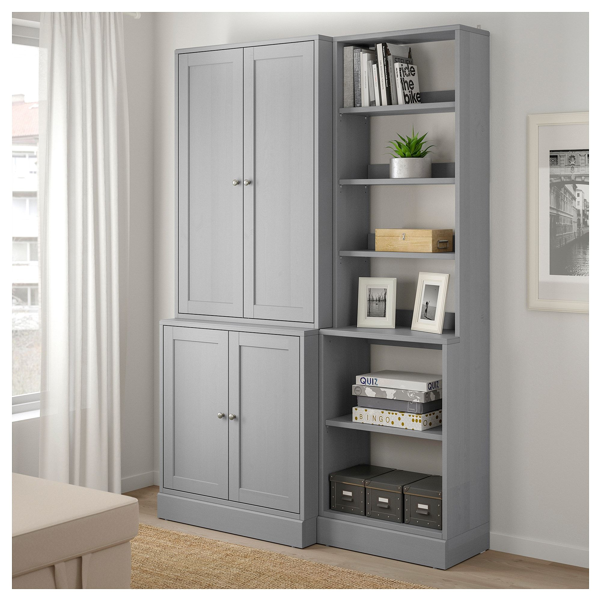 HAVSTA Storage combination gray 55 7/8x18 1/2x83 1/2