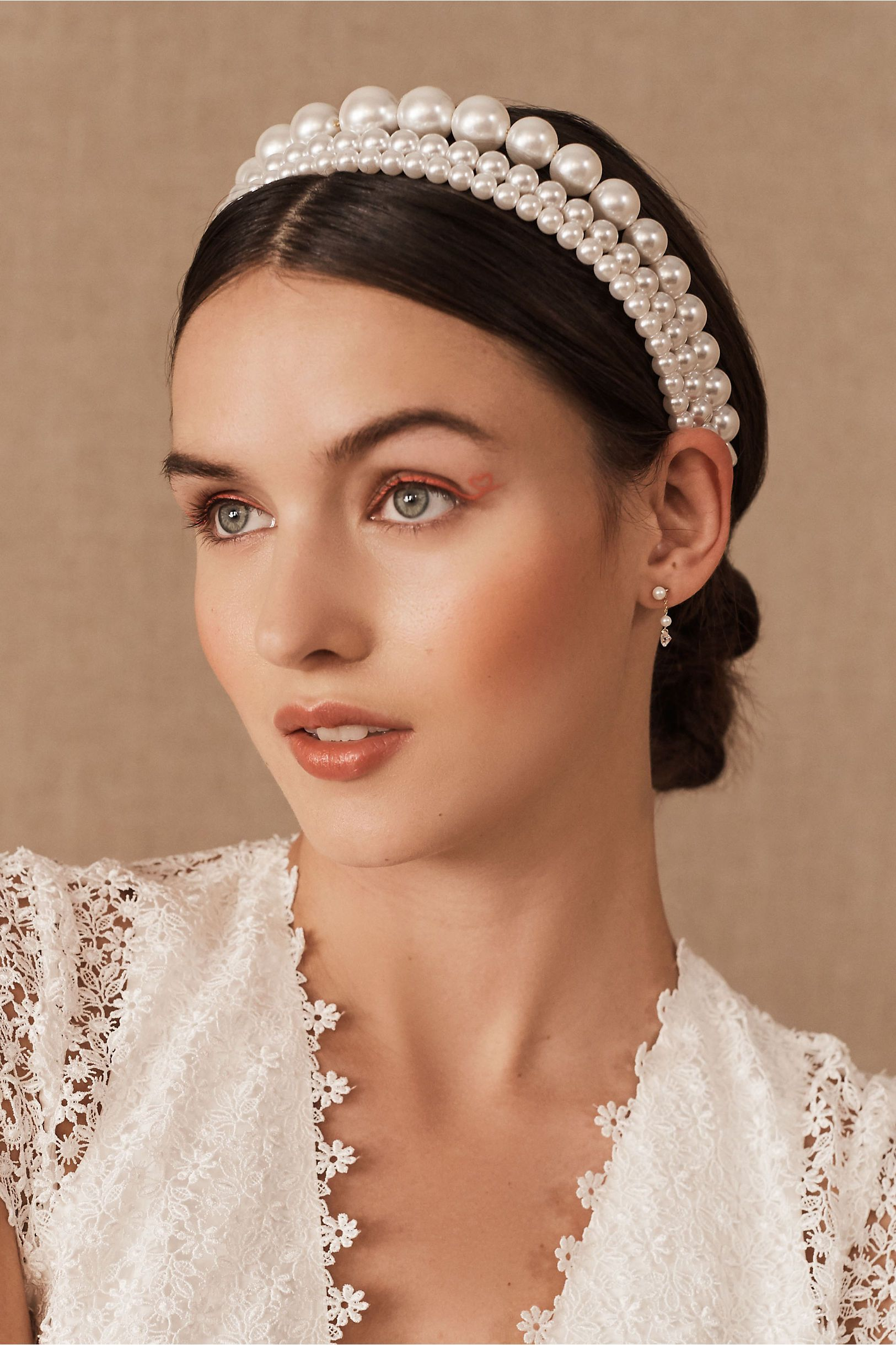 Photo of Nueve Headband Set In Pearl – Size: One Size – at BHLDN