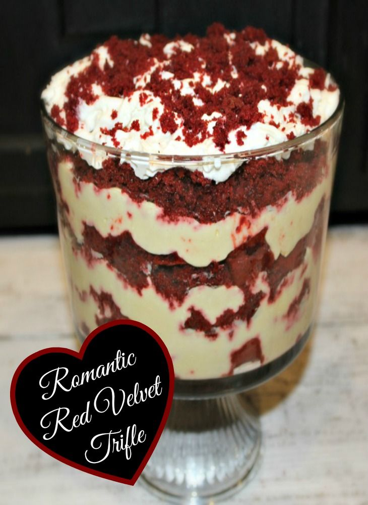 What a perfect romantic dessert for Valentines Day! Super easy to make and delicious!