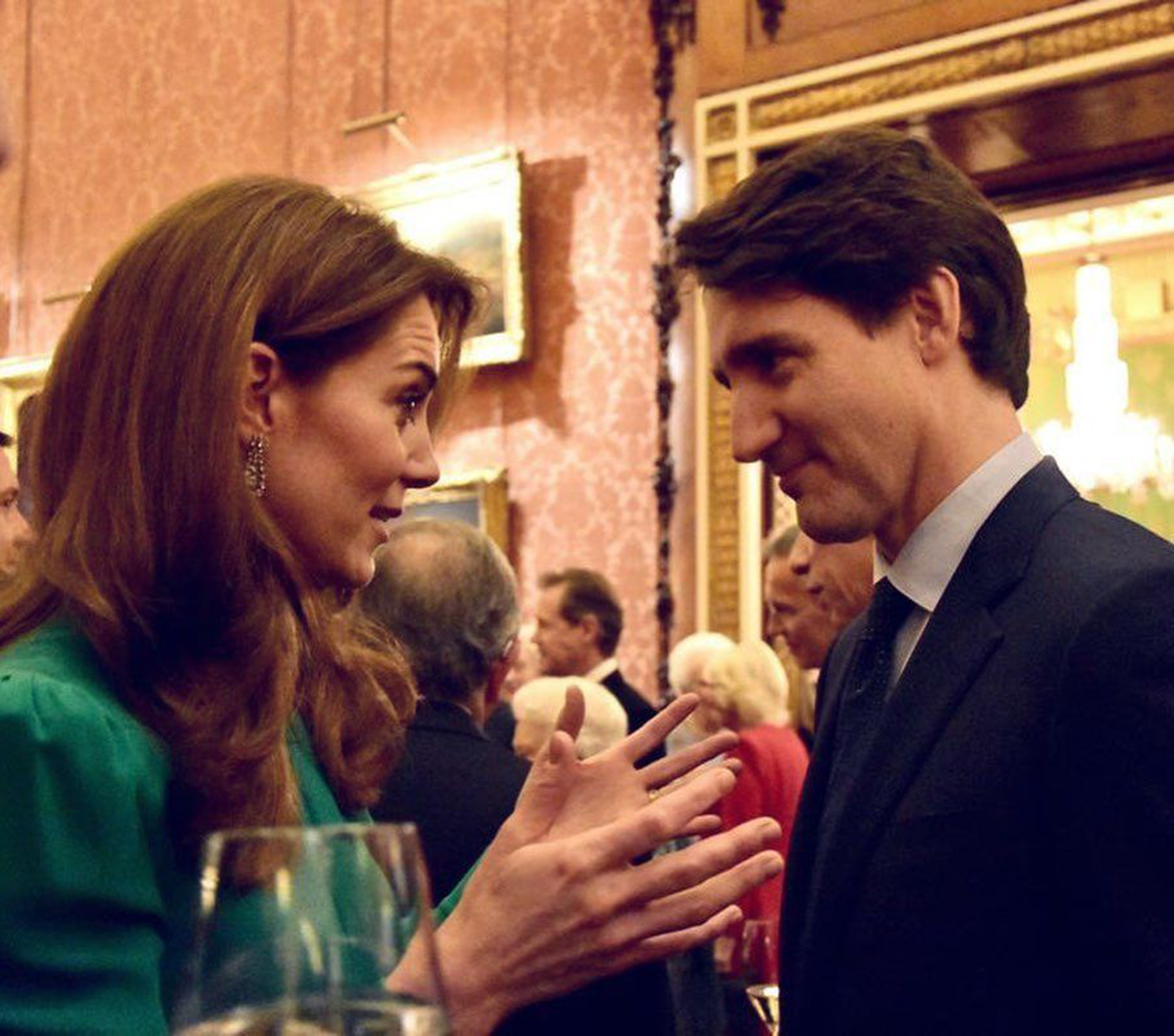 Justin Trudeau Prime Minister Of Canada And Duchess Of Cambridge Kate Middleton Duchess Of Cambridge Duchess Catherine Duchess