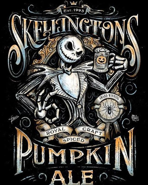 Est 1993 Tattoo Designs : tattoo, designs, Skeleton, Nightmare, Before, Christmas, Tattoo,, Pumpkin, Halloween, Design