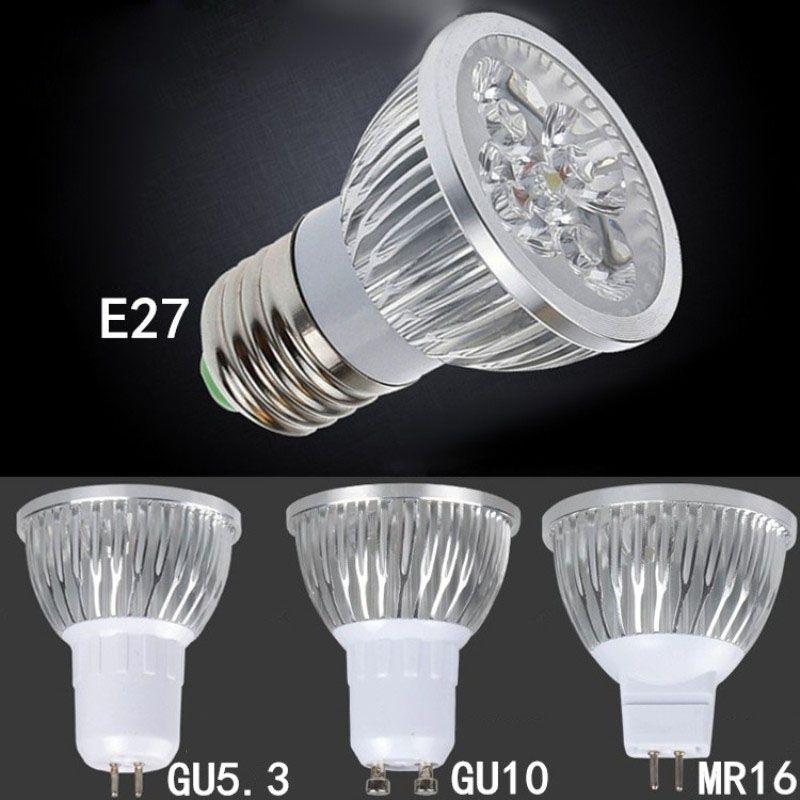 High Power Led Lamp 9w 12w 15w Dimmable 220v 110v E27 Gu10 E14 Mr16 12v Spotlight Bulb Ceiling Lights Lighting 85 265v With Images Spotlight Bulbs Power Led Led Lamp