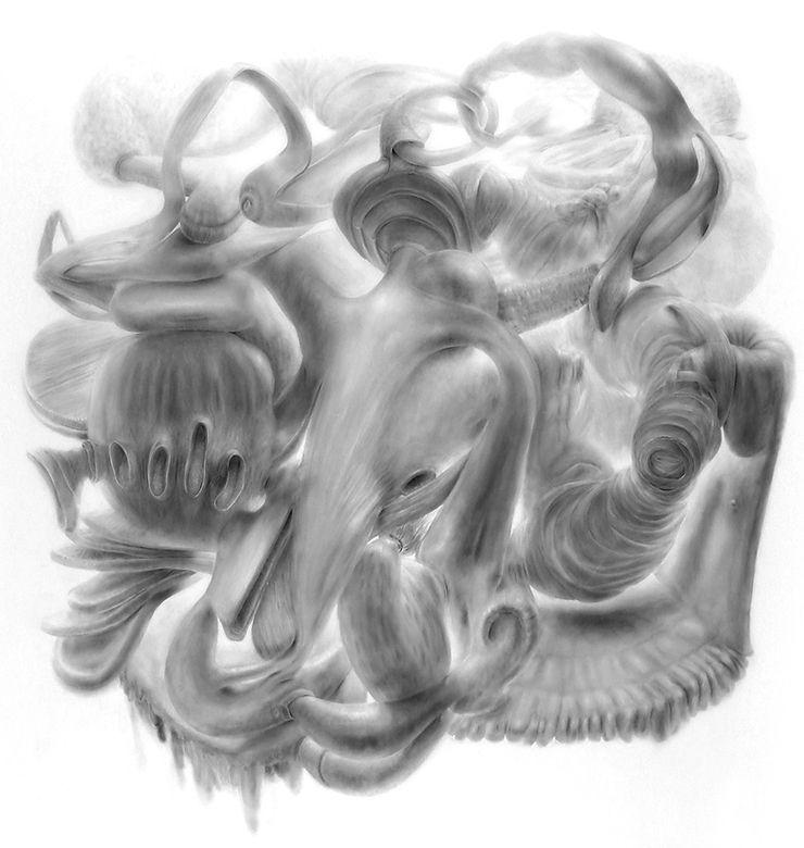 Deborah Zlotsky graphite drawing