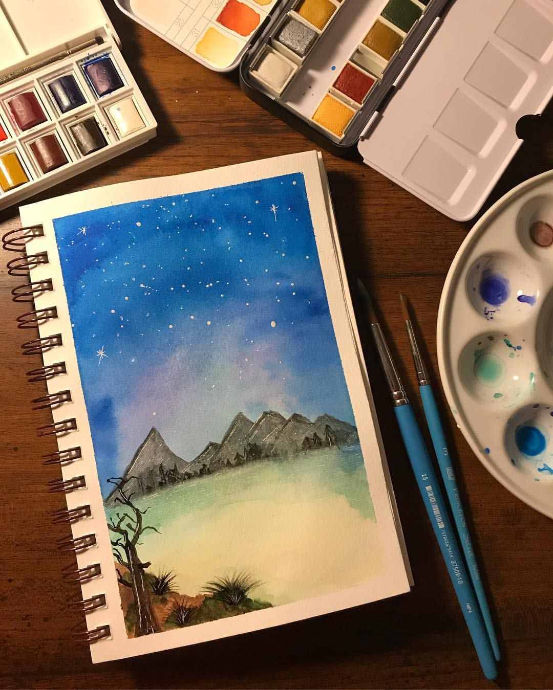 Week 2 Of My Journey Into Watercolors I See Some Improvement