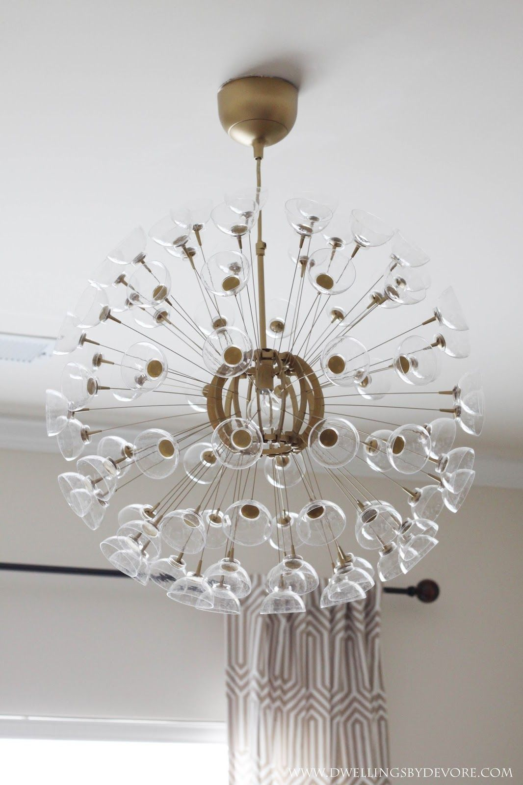 The other day I mentioned that I was working on a little makeover for this  IKEA MASKROS pendant lamp. I& loved Sputnik chandeliers for. - The Other Day I Mentioned That I Was Working On A Little Makeover