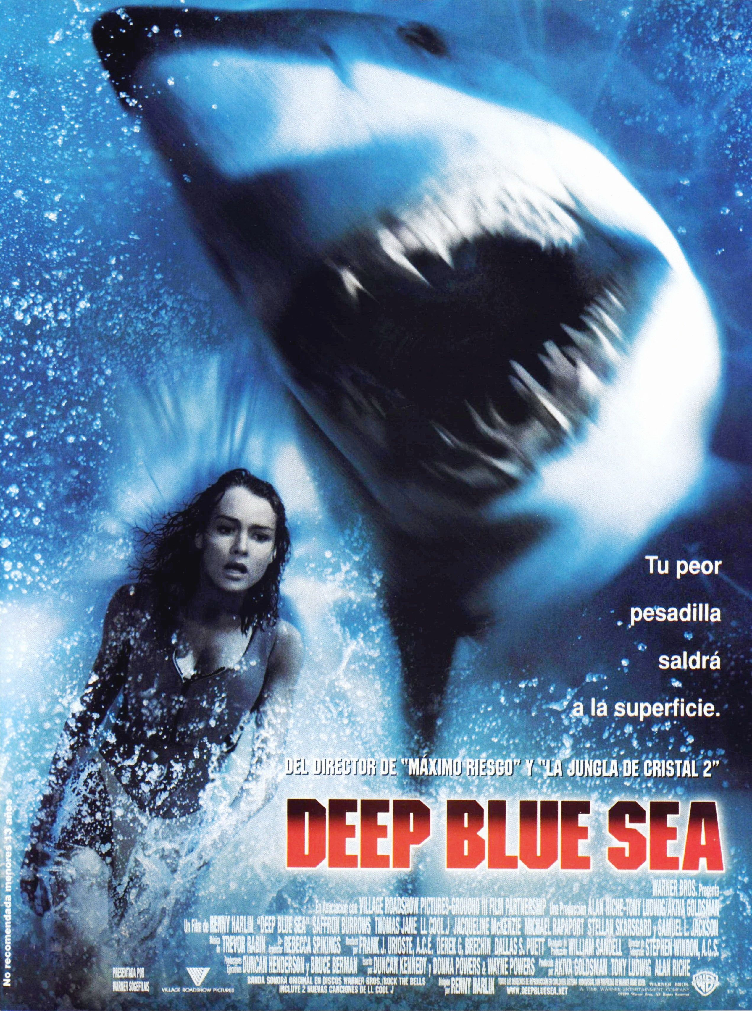 Deep Blue Sea Peliculas De Tiburones Peliculas De Terror Peliculas De Comedia
