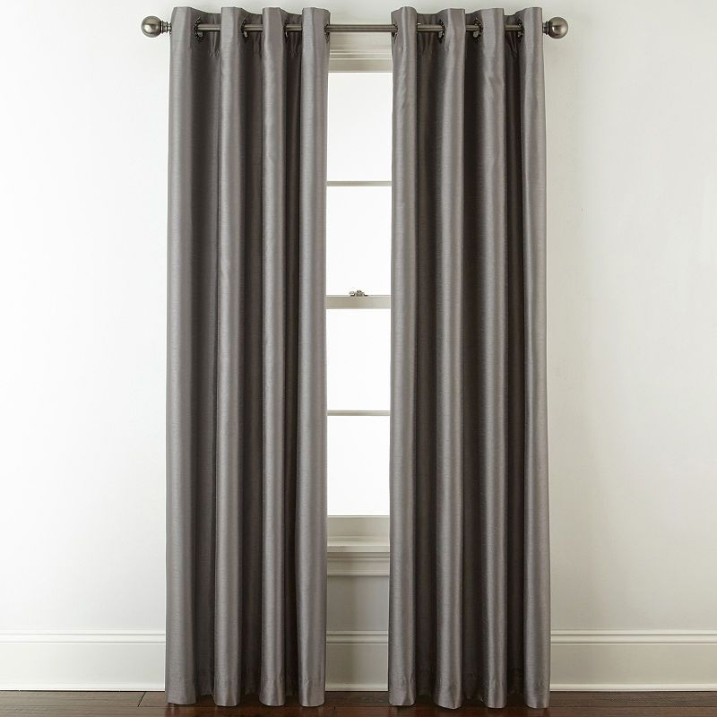 Jcpenney Home Plaza Grommet Top Lined Blackout Curtain Panel