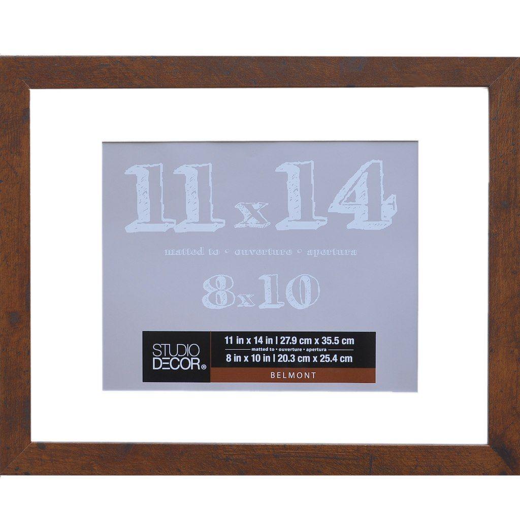 Honey Frame With Mat Belmont By Studio Decor Studio Decor Frames On Wall Frame