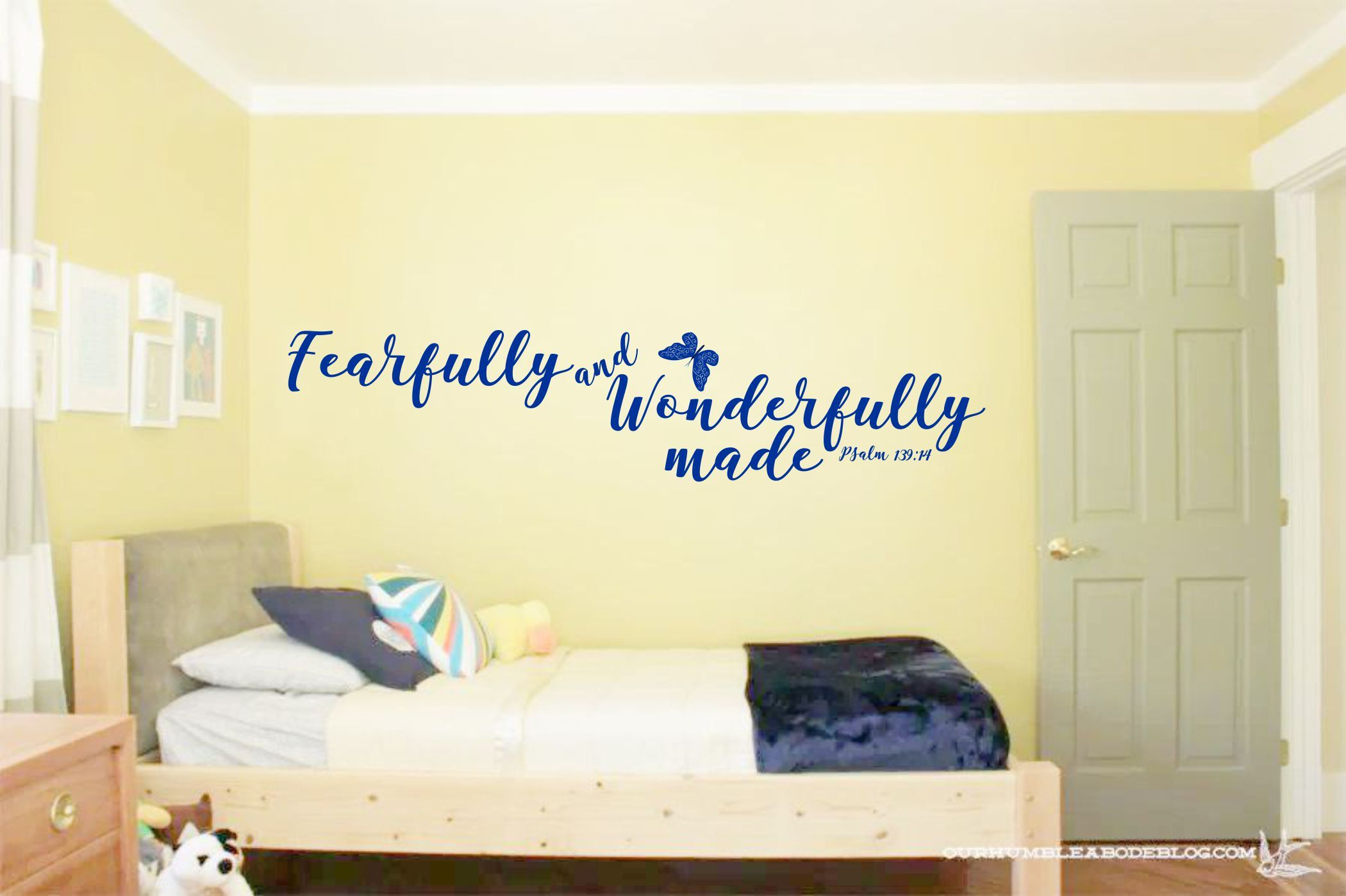 Christian Wall Art, Scripture Decal, Bedroom, Nursery, Psalm 139, 36 ...