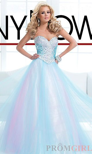 Strapless Light Blue Ball Gown at PromGirl.com NEW1 love the color no so much the dress