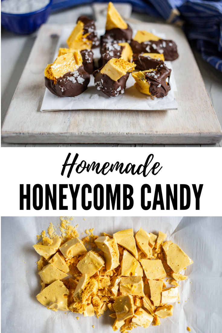 Homemade Honeycomb Candy #honeycombcandy