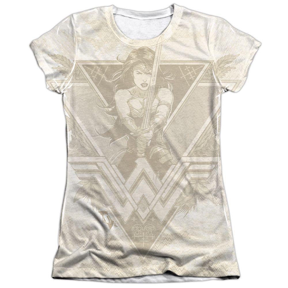 Batman V Superman/Greek Goddess Short Sleeve Junior 65/35 Poly/ Crew in, Girl's