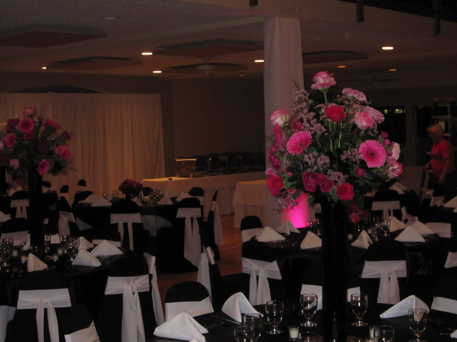 Wedding decorations red  black white and pink wedding  Google Search  Wedding digs