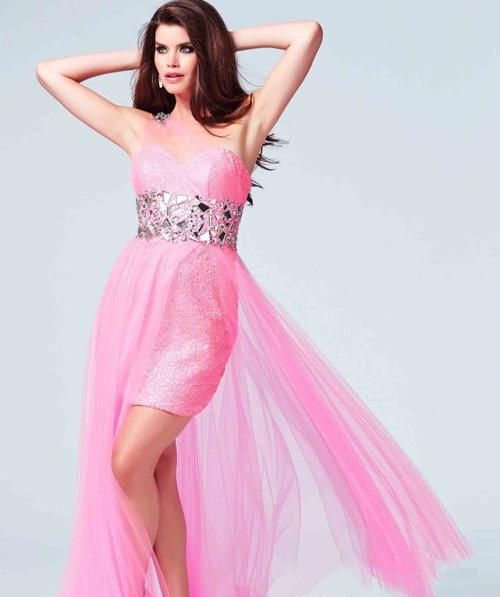 Imagenes de vestidos de 15 cortos con cola