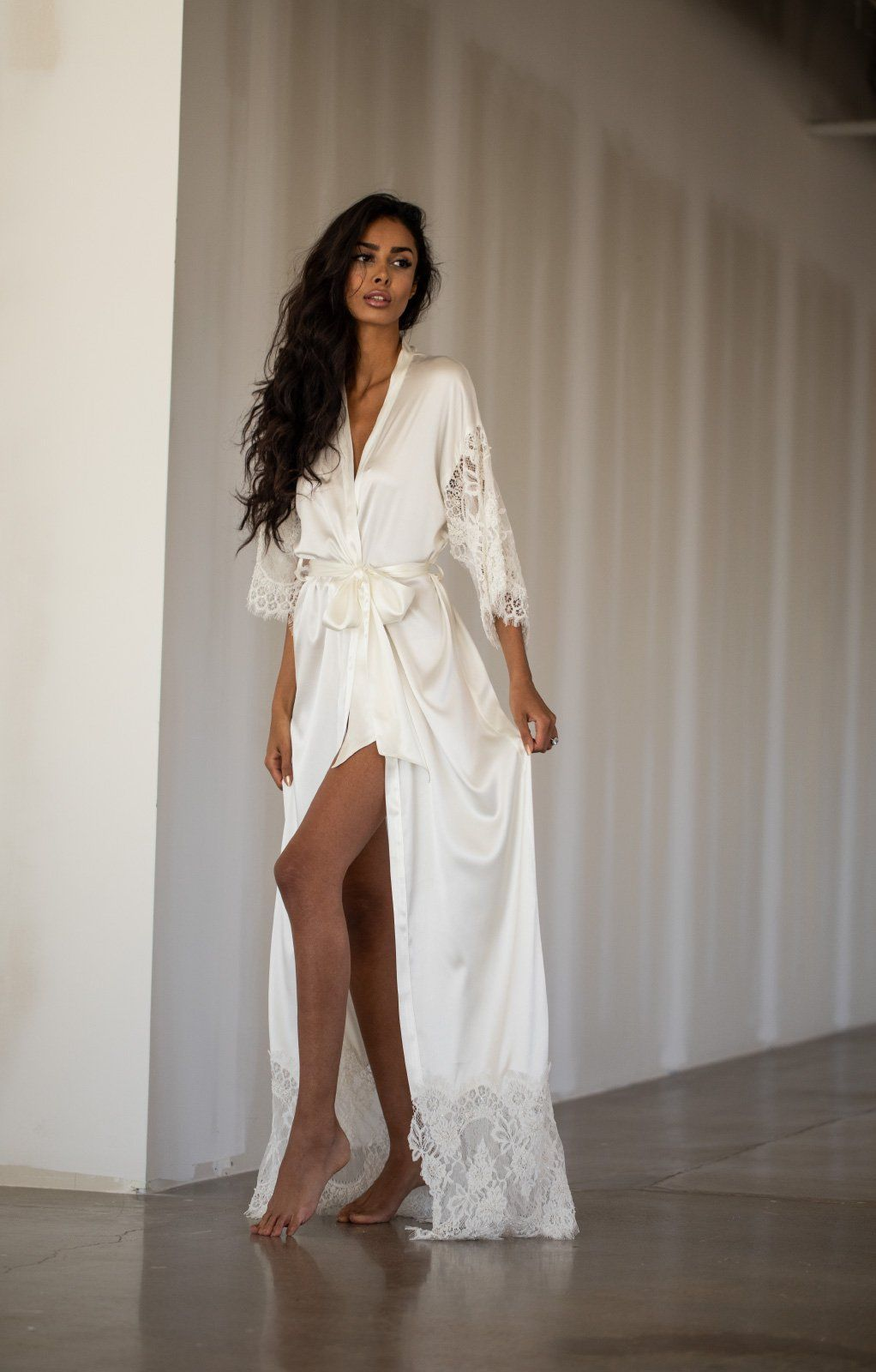 Grace Long Bridal Robe in 2020 Bridal robes getting