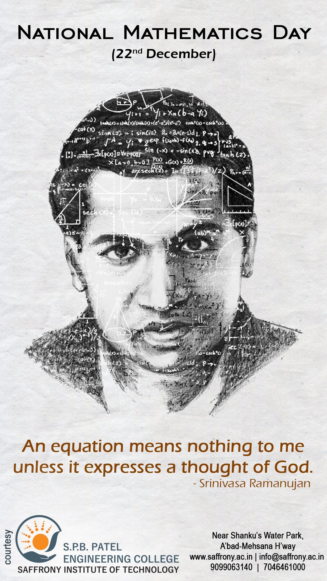 An equation means nothing to me unless it expresses a thought of god