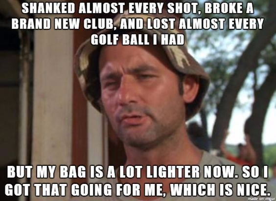 Funny Memes For Dumb People : Lookin' on the bright side. :p rock bottom golf #rockbottomgolf