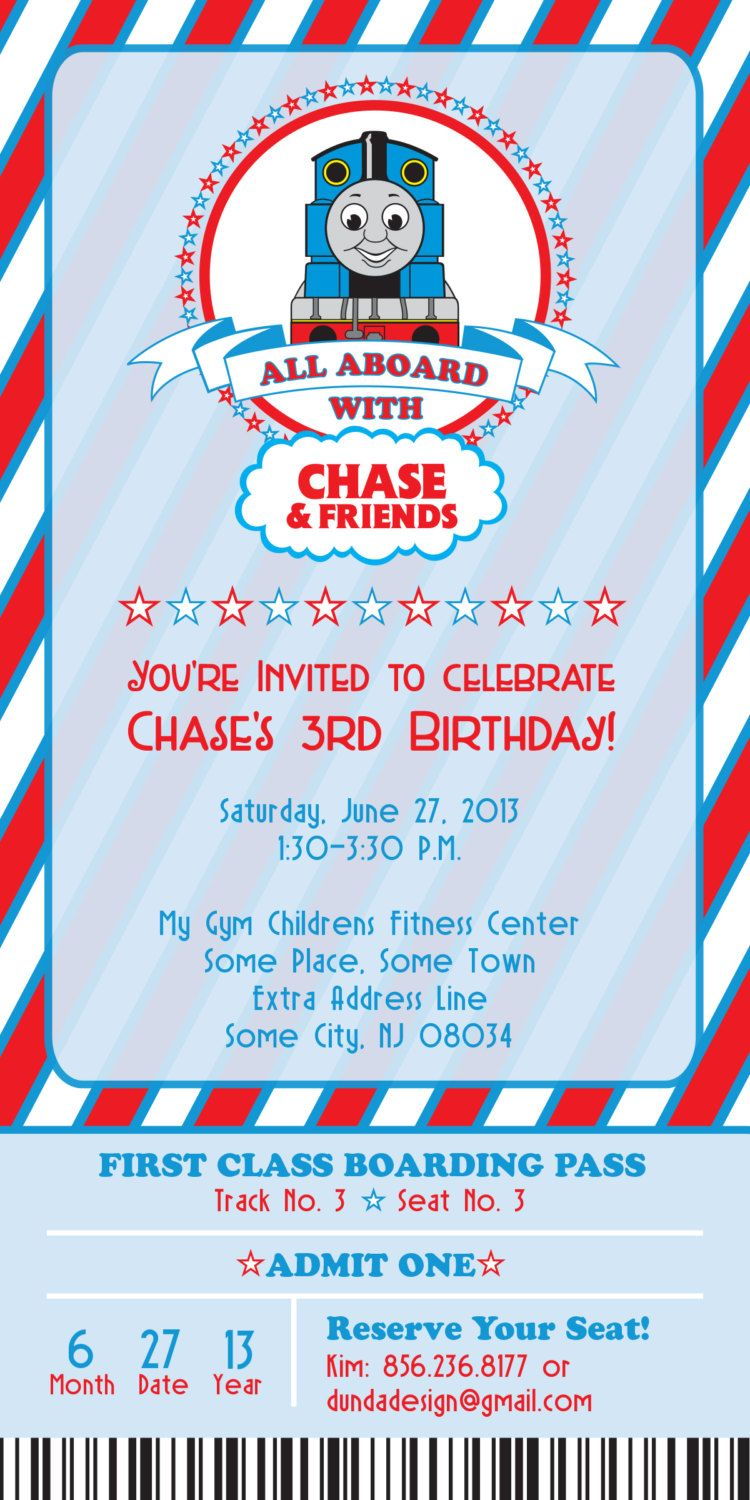 thomas the train birthday invitation 25 00 via etsy birthday